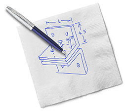drawing on a napkin